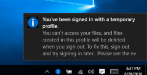 How To Fix Temporary Login Profile Issue On Windows 10 ,8,  8.1, 7