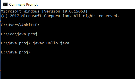 java compile cmd