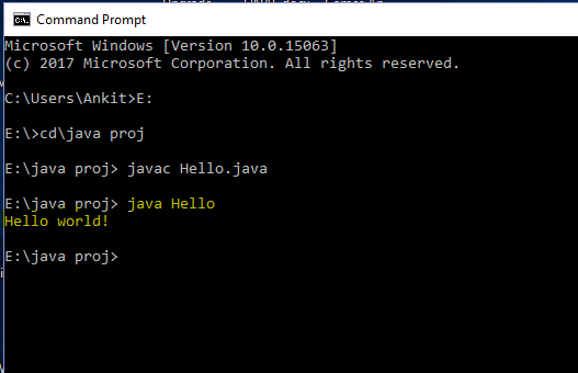 run java on command prompt ( cmd )